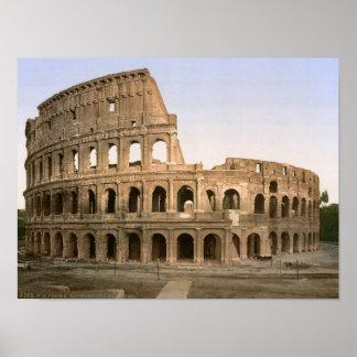 ヴィンテージローマ、イタリア、Colosseumの円形競技場 ポスター