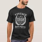 ヴィンテージワイシャツを言う1958年の第60誕生日 Tシャツ