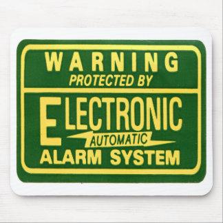 ヴィンテージ低俗な警告の電子警報ステッカー マウスパッド