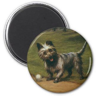 ヴィンテージ動物犬、かわいいスコットランドテリアの子犬 マグネット