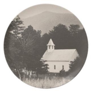 ヴィンテージ古い山教会 プレート