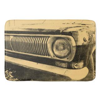 ヴィンテージ古くクラシックな車のヘッドライト バスマット