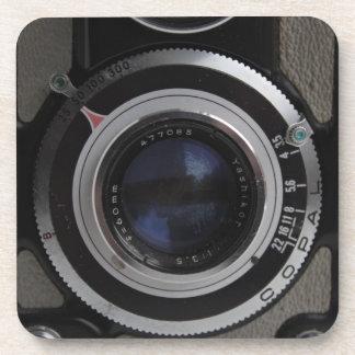 ヴィンテージ対レンズのカメラのコースター コースター