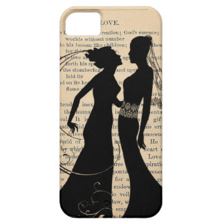 ヴィンテージ愛及び結婚レズビアンの結婚のLongfellow iPhone SE/5/5s ケース