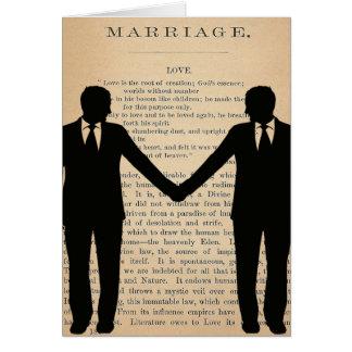 ヴィンテージ愛及び結婚陽気な結婚のLongfellow カード