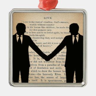 ヴィンテージ愛及び結婚陽気な結婚のLongfellow メタルオーナメント