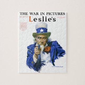 ヴィンテージ愛国心が強い軍戦争の雑誌カバーの芸術 ジグソーパズル