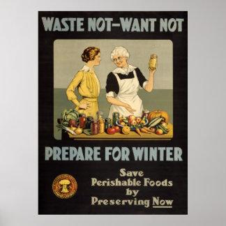 ヴィンテージ戦争の努力ポスター-不用なNOT-WANTない ポスター