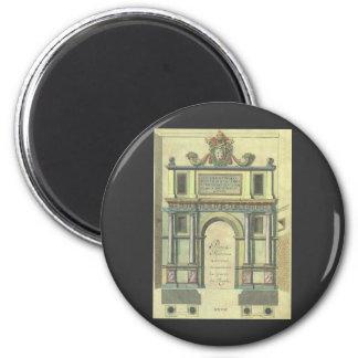 ヴィンテージ教会ドア記入項目のルネサンスの建築 マグネット