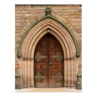 ヴィンテージ教会ドア-イギリス-郵便はがき ポストカード