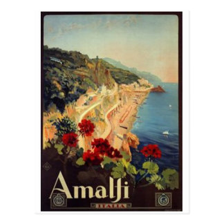 ヴィンテージ旅行イタリア、アマルフィ- ポストカード