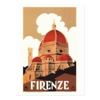 ヴィンテージ旅行イタリア、フィレンツェ- ポストカード