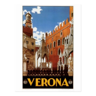 ヴィンテージ旅行イタリア、ベロナ- ポストカード