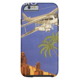 ヴィンテージ旅行カイロエジプトアフリカの飛行機 iPhone 6 タフケース