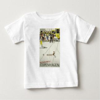 ヴィンテージ旅行コペンハーゲンデンマーク ベビーTシャツ