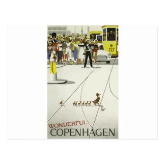 ヴィンテージ旅行コペンハーゲンデンマーク ポストカード