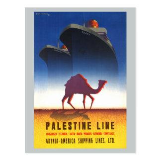 ヴィンテージ旅行パレスチナライン船 ポストカード