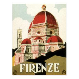 ヴィンテージ旅行フィレンツェフィレンツェイタリア教会大教会堂 ポストカード
