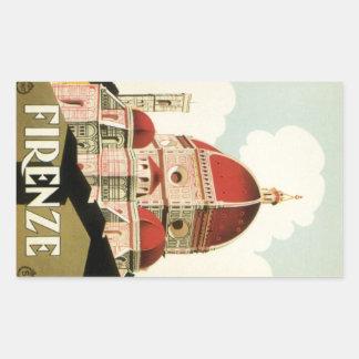 ヴィンテージ旅行フィレンツェフィレンツェイタリア教会大教会堂 長方形シール