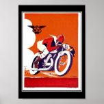 ヴィンテージ旅行ポスターオートバイの競争 ポスター