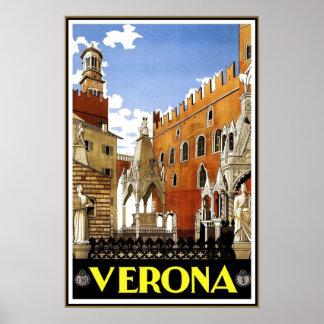 ヴィンテージ旅行ポスターベロナ旅行イタリア ポスター