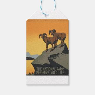 ヴィンテージ旅行ポスター国立公園アメリカ米国 ギフトタグ