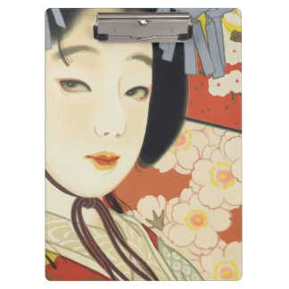 ヴィンテージ旅行ポスター大阪日本 クリップボード