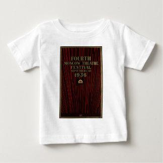 ヴィンテージ旅行ポスター広告のレトロのプリント ベビーTシャツ