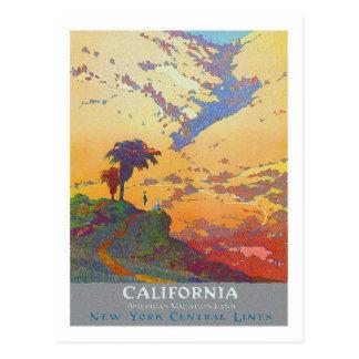 ヴィンテージ旅行ポスター、カリフォルニア ポストカード