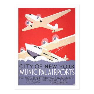 ヴィンテージ旅行ポスター、ニューヨーク ポストカード