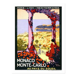 ヴィンテージ旅行ポスター、モンテカルロ ポストカード