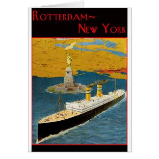 ヴィンテージ旅行ポスター: ロッテルダム-ニューヨーク カード