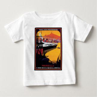 ヴィンテージ旅行ポスター: 地中海の ベビーTシャツ