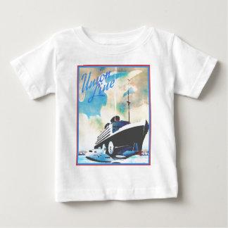 ヴィンテージ旅行ポスター: 連合ライン ベビーTシャツ