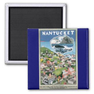 ヴィンテージ旅行ポスター、Nantucketの島、MAの地図 マグネット