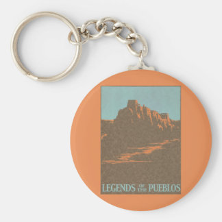 ヴィンテージ旅行ポスター、Taos、ニューメキシコ キーホルダー