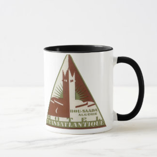 ヴィンテージ旅行ポスターTRANSの大西洋のホテルアルジェリア マグカップ