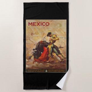 ヴィンテージ旅行メキシコ闘牛メタドー ビーチタオル