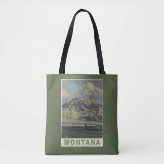 ヴィンテージ旅行モンタナ米国のバッグ トートバッグ