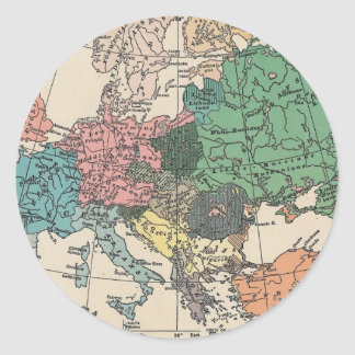 ヴィンテージ旅行地図 ラウンドシール
