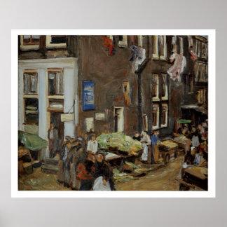 ヴィンテージ旅行場外市場アムステルダム ポスター