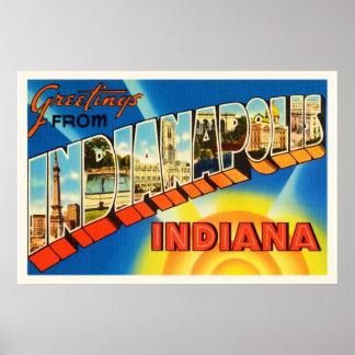 ヴィンテージ旅行記念品のインディアナポリスインディアナ ポスター