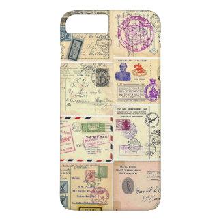 ヴィンテージ旅行郵便はがき iPhone 8 PLUS/7 PLUSケース