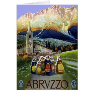 ヴィンテージ旅行、アブルッツォ、イタリアの女性 カード