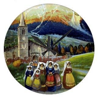 ヴィンテージ旅行、アブルッツォ、イタリアの女性 クロック