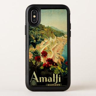 ヴィンテージ旅行、アマルフィのイタリアンな海岸のビーチ オッターボックスシンメトリー iPhone X ケース