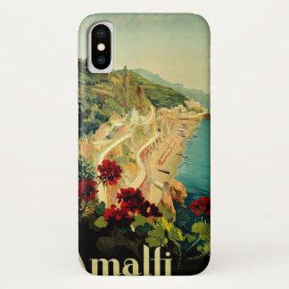 ヴィンテージ旅行、アマルフィのイタリアンな海岸のビーチ iPhone X ケース