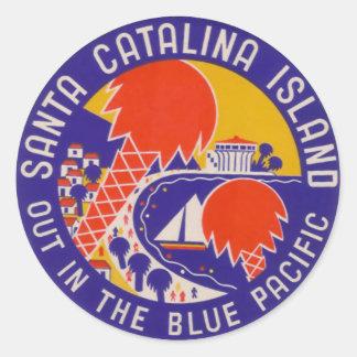 ヴィンテージ旅行-サンタCatalinaの島 ラウンドシール