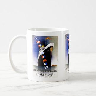 ヴィンテージ旅行、バルセロナの国際見本市 コーヒーマグカップ