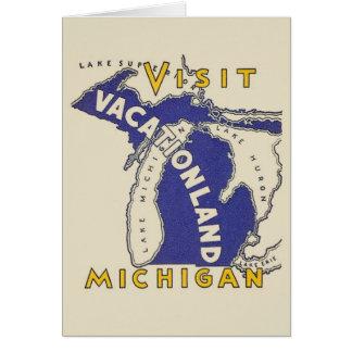 ヴィンテージ旅行-ミシガン州Vacationland カード